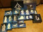 Vintage 80s Avon 22 Piece Nativity Set White Porcelain in Original Boxes MS 243