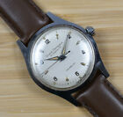 Vintage GIRARD PERREGAUX Gyromatic Stainless Steel Men's Automatic Watch Leather