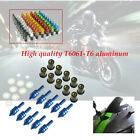 10PcsT6061-T6 aluminum Motorcycle Fairing Windscreen Spike Bolts plastic Washers