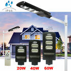 40 80 120 LED Solar Powered Street Lights Outdoor Remote Control Security Light
