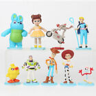 Toy Story Woody Jessie Buzz Lightyear 9 PCS Action Figure Cake Topper Gift Toys