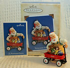 Hallmark 2004 TOYMAKER SANTA #5 5th in Series Radio Flyer Red Wagon ORNAMENT '04