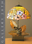 SUPERB ORIGINAL ART NOUVEAU LOTUS SCULPTURAL LAMP VTG 30S 20S DECO TIFFANY
