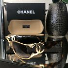 Vintage Chanel Sunglasses 4024 Brown Tortoise Gold Frames Eyeglasses VERY RARE