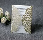 50 100 Glitter Wedding Invitation Personalized Printing Cards Kit Laser Cut Card