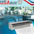 Durable Waterfall Fountain Pool Stainless Steel Wall Pond Spillway Rectangular