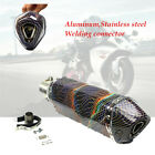 Motorcycle Stainless Welding Exhaust Muffler Pipe 38 51mm Modified Parts Durable