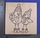 RUBBER STAMP SPINDLY BIRDS CHRISTMAS BIRD STAMPENDOUS W172