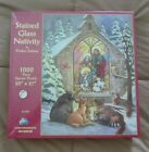 Jigsaw Puzzle 1000 Piece Stained Glass Nativity by Parker Fulton Made in USA New