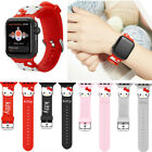 Cute Hello Kitty Silicone Sport Band For Apple Watch Series 4 3 2 1 Wrist Strap