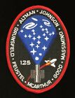 STS 125 SPACE SHUTTLE ATLANTIS CREW EMBLEM MISSION OVAL PATCH GRAY PANELS