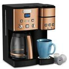 Cuisinart SS 15CP 12 Cup Coffee Maker And Single Serve Brewer Copper