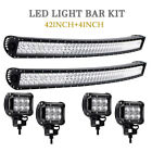 42inch Curved LED Light Bar+418w pods with LED Chips 240W SUV Trucks ATV Cars