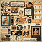 Authentique Halloween Twilight Collection Cardstock Stickers Details 1
