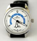 Vintage  FORTIS  Hand-winding White & Blue Texture 17 J Rare Fashionable Watch