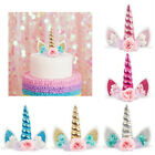 Happy Birthday Cake Toppers 1th Unicorn Cupcake Topper Kids Birthday Party Decor