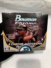 2014 bowman chrome Factory Sealed Jumbo Hobby Box. 5 Auto's. New! Factory Sealed