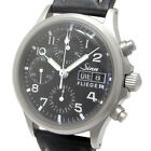 Sinn 356 FLIEGER Auto Chronograph Mens Watch Black Dial Day Date Excellent++