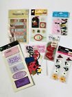 Small Lot of Scrapbooking Stickers and Embellishments 11 Pieces All New