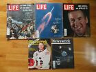 5 Space APOLLO Man on Moon NEIL ARMSTRONG BUZZ ALDRIN MICHAEL COLLINS Magazines