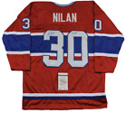CHRIS NILAN SIGNED JERSEY JSA COA Montreal Canadiens Authentic Autographed Red