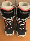 PREOWNED SOLOMON SKI / SNOWBOARDING BOOTS, THERMIC FIT, UNISEX, SIZE 5.5, AS IS