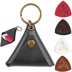 Anwenk Leather Guitar Pick Holder and Ukulele Picks Guitar Pickholder with for
