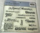 Cloud9 Design 14 Rubber Cling Stamp Set 8x6 Memory Phrases Special Moments