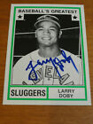 Signed 1982 TCMA Greatest Sluggers LARRY DOBY #36 Cleveleand Indians Autograph