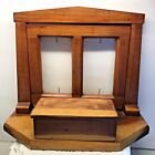 Vintage Arts and Crafts Two Photo Frame With Wood Box Excellent Condition