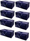 Heavy Duty Extra Large Storage Bag Moving Tote Backpack Boxes 8 Pack