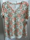 LuLaRoe NWT Mint Green Christy T Gorgeous Pink Roses size XL FREE SHIPPING