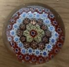 Vintage USED GLASS PAPERWEIGHT MILLEFIORI Canes Murano