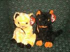 TY 2 BEANIE ~ SCARED-e (TY store) & FRAIDY~HALLOWEEN CATS ~ Approx 6