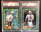 1986 Topps Football Set 8 with graded