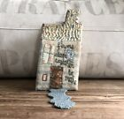 Wonderful JULIE ARKELL Paper Mache House Flowers Sewn Together New