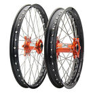 Impact Complete Front/Rear Wheel Kit 1.60 x 21/2.15 x 19 Black Rim/Silver Spoke/