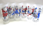 Gay Fad Federal Square Dance Glasses Set of 6 Americana Red White Blue