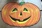 Beistle Halloween Pumpkin 25 inch Die Paper Cutout Decoration 1973 Copyright