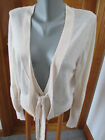 BCBG GIRLS SIZE L IVORY V NECK 3 BUTTON CARDIGAN SWEATER  LONG SLEEVE LIGHTWEIGT