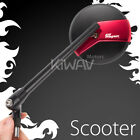 mirror Missie matte black stem red belt 8mm for Scooter Moped 50cc 90cc 150cc