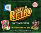 2012 Fleer Retro Factory Sealed Football Hobby Box (20 Packs- 6 Autographs)