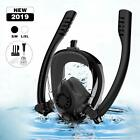 Full Face Snorkel Mask Anti fogging Snorkeling Mask with Dual Snorkel for Swim