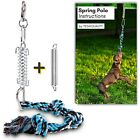 Strong Spring Pole Pitbull Dog Rope Toy 2 Springs 1 For Small 1 For Big Dogs