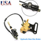Hydraulic Rear Disc Brake Caliper Master Cylinder Fit Moped Scooter Motorcycle
