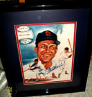 STAN MUSIAL CARDINALS HALL OF FAMER AUTOGRAPHED PRO FRAMED MATTED PIC