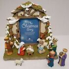 DaySpring Hallmark Christmas Advent Nativity Calendar 9 Pieces w 26 Date Cards