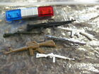 1/25 LOT OF 6 POLICE RIFLES / GUNS AND ROOF LIGHTS FOR DIORAMA
