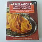 Weight Watchers Quick And Easy Menu Cookbook 1989 Plume