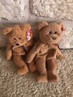 Vintage Ty beanie baby bears Curly and Fuzz RARE